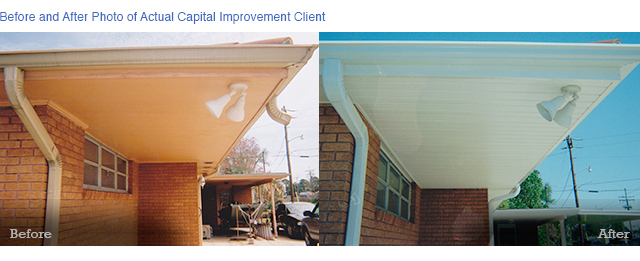 Before and After Capital Improvement Soffit and Fascia